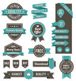 Bandeiras e elementos do design web do vetor Fotografia de Stock