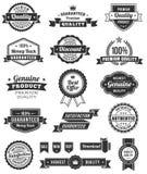 Bandeiras e elementos do design web do vetor Foto de Stock