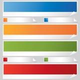 Bandeiras e etiquetas ilustração royalty free