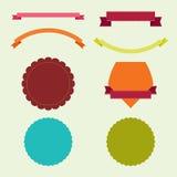Bandeiras e etiquetas Imagem de Stock