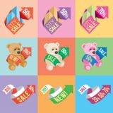 Bandeiras e etiquetas Fotografia de Stock