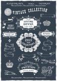 Bandeiras e etiquetas do vintage ilustração royalty free
