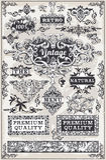 Bandeiras e etiquetas gráficas tiradas mão do vintage Imagem de Stock Royalty Free