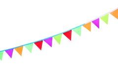 Bandeiras e festões festivas coloridas do outono Imagem de Stock