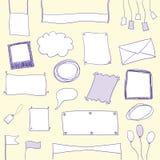 Bandeiras e frames do Doodle com espaço da cópia Imagem de Stock Royalty Free