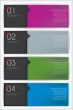 Bandeiras e Infographics Imagens de Stock