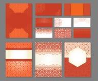 Bandeiras e moldes dos cartões da visita Imagens de Stock Royalty Free