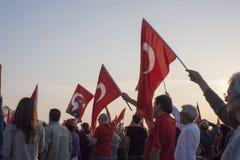 Bandeiras e povos Fotografia de Stock Royalty Free