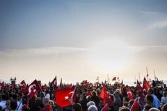 Bandeiras e povos Foto de Stock Royalty Free