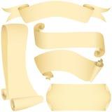 Bandeiras e rolos de Grunge ajustados Imagens de Stock Royalty Free