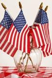 Bandeiras e tablecloth imagens de stock royalty free