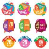 Bandeiras e vendas Imagens de Stock Royalty Free