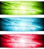 Bandeiras elegantes brilhantes da olá!-tecnologia Fotos de Stock