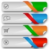 Bandeiras elegantes modernas do projeto da venda Imagem de Stock