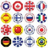 Bandeiras em símbolos do casino Fotografia de Stock Royalty Free