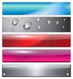 Bandeiras, encabeçamentos Imagem de Stock