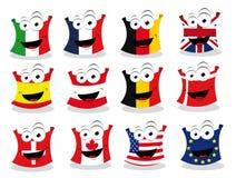Bandeiras engraçadas - parte II ilustração royalty free
