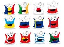 Bandeiras engraçadas - parte mim ilustração stock