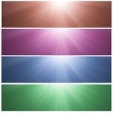 Bandeiras ensolaradas Fotos de Stock Royalty Free
