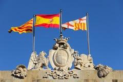 Bandeiras espanholas Fotos de Stock Royalty Free