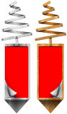 Bandeiras estilizados do vertical da árvore de Natal Fotografia de Stock Royalty Free
