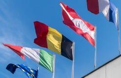 Bandeiras europ?ias imagens de stock royalty free