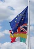 Bandeiras europeias Fotografia de Stock