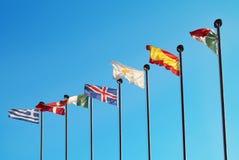 Bandeiras europeias Foto de Stock