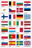 Bandeiras europeias - parte 1 ilustração do vetor