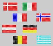 Bandeiras feitas das flores Fotografia de Stock Royalty Free