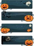 Bandeiras felizes de Halloween Foto de Stock Royalty Free