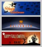 Bandeiras felizes de Halloween Imagem de Stock