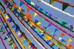 Bandeiras festivas Imagens de Stock