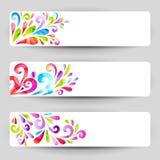Bandeiras florais Foto de Stock