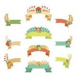 Bandeiras florais fotos de stock royalty free
