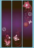 Bandeiras florais Fotografia de Stock