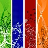 Bandeiras florais ajustadas Imagem de Stock Royalty Free