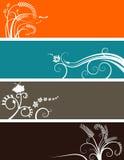 Bandeiras florais bem escolhidas