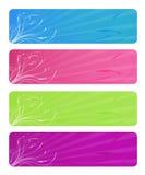 Bandeiras florais brilhantes Imagem de Stock Royalty Free