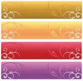 Bandeiras florais do Web Imagem de Stock