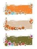 Bandeiras florais retros ilustração stock