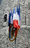Bandeiras francesas imagem de stock royalty free
