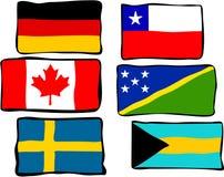 Bandeiras Funky ilustração stock