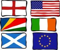 Bandeiras Funky ilustração royalty free