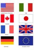 Bandeiras G8 Fotografia de Stock Royalty Free