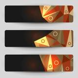 Bandeiras geométricas escuras Fotografia de Stock Royalty Free