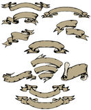 Bandeiras Hand-drawn ilustração stock