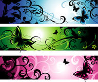 Bandeiras horizontais Imagens de Stock
