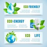 Bandeiras horizontais da ecologia Imagem de Stock