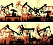 Bandeiras horizontais da ilustração com unidades para a indústria petroleira Imagem de Stock